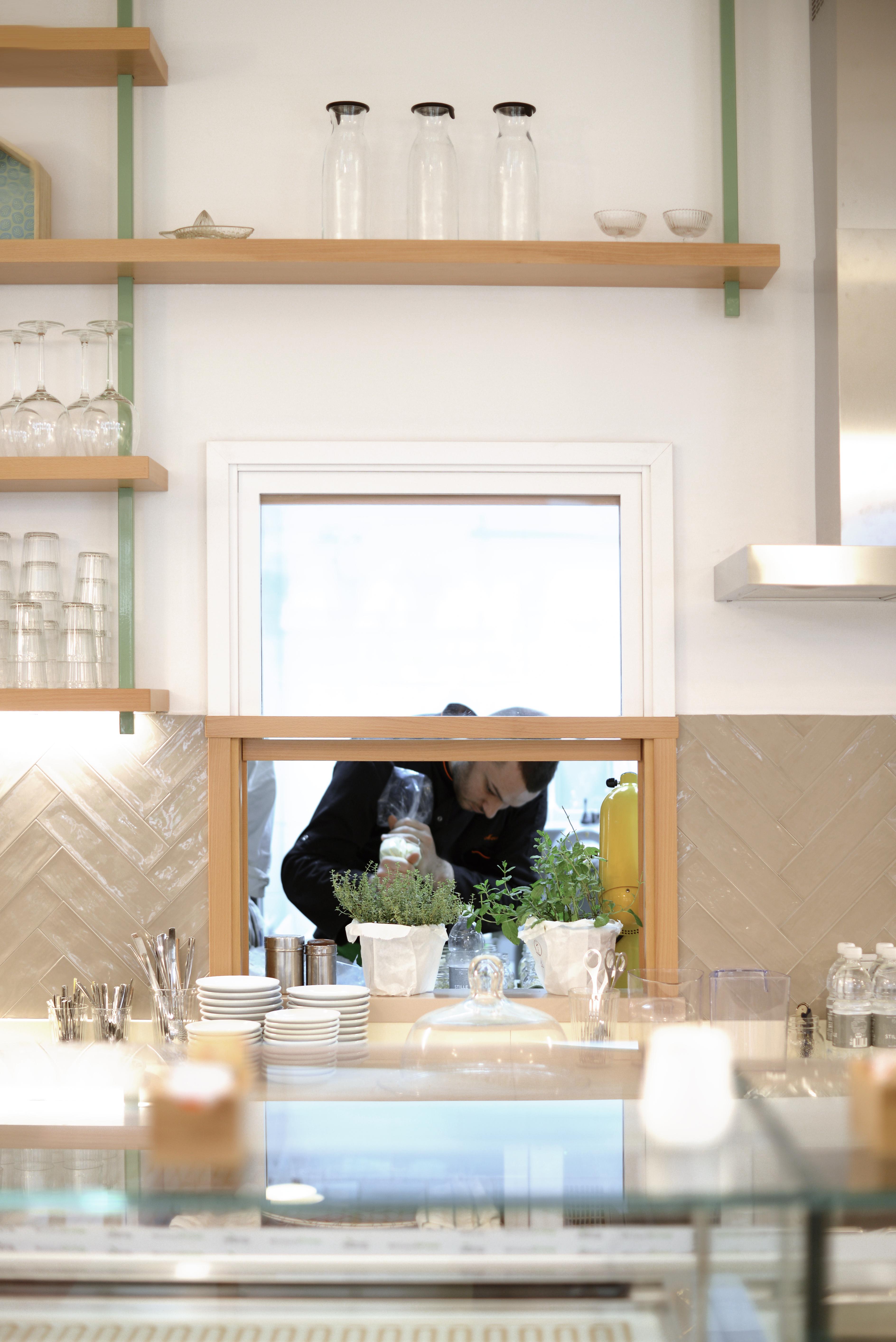 café merenda bistrot in rome by laboratore innocenti design office studio lido interior project art direction and brand identity